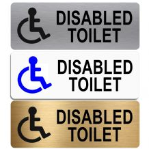 Disabled Toilet Sign-Aluminium Metal-Lavatory,Door,Notice,Office,Shop,Toilets,Unisex,Wheelchair